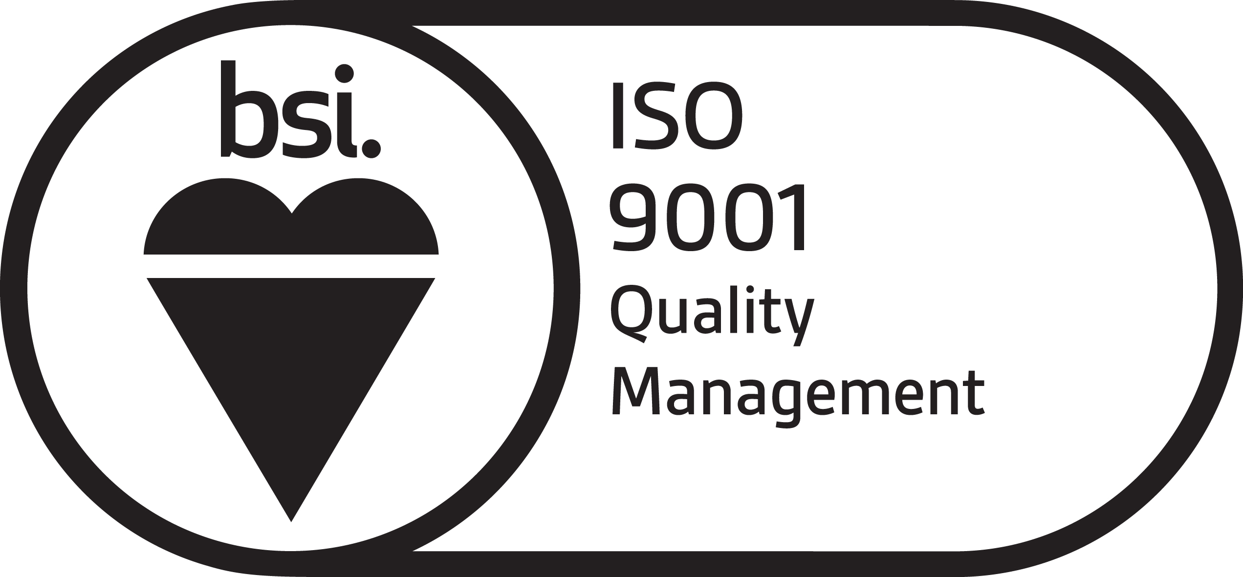 BSI ISO 9001 Quality management.